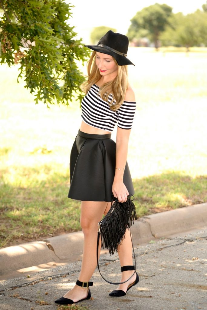 Outfit: Cropped and Striped