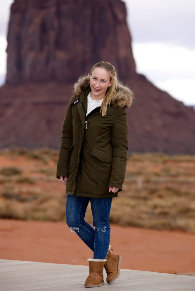 Monument Valley in my  Woolrich parka