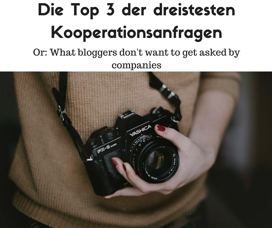 Dreiste Kooperationsanfragen/ Dubious Cooperation Inquiries