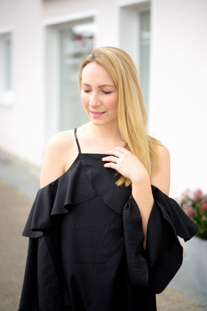 SheIn Black Offshoulder Dress