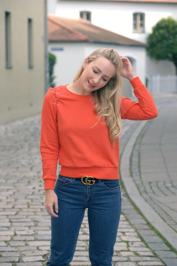 Bright Orange Sweater for Fall