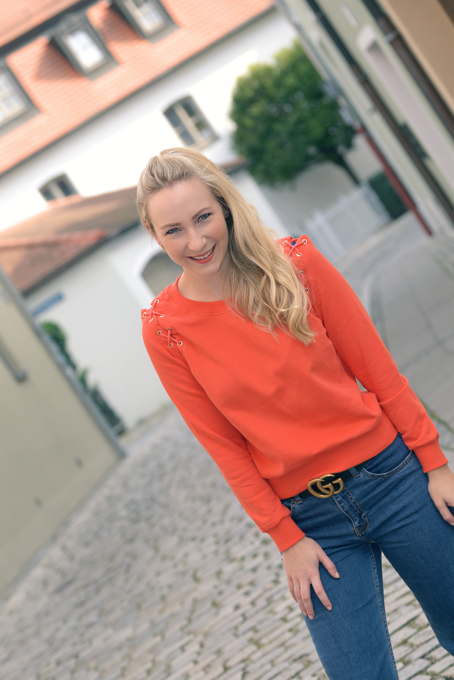 Newchic Orange Sweater for Fall
