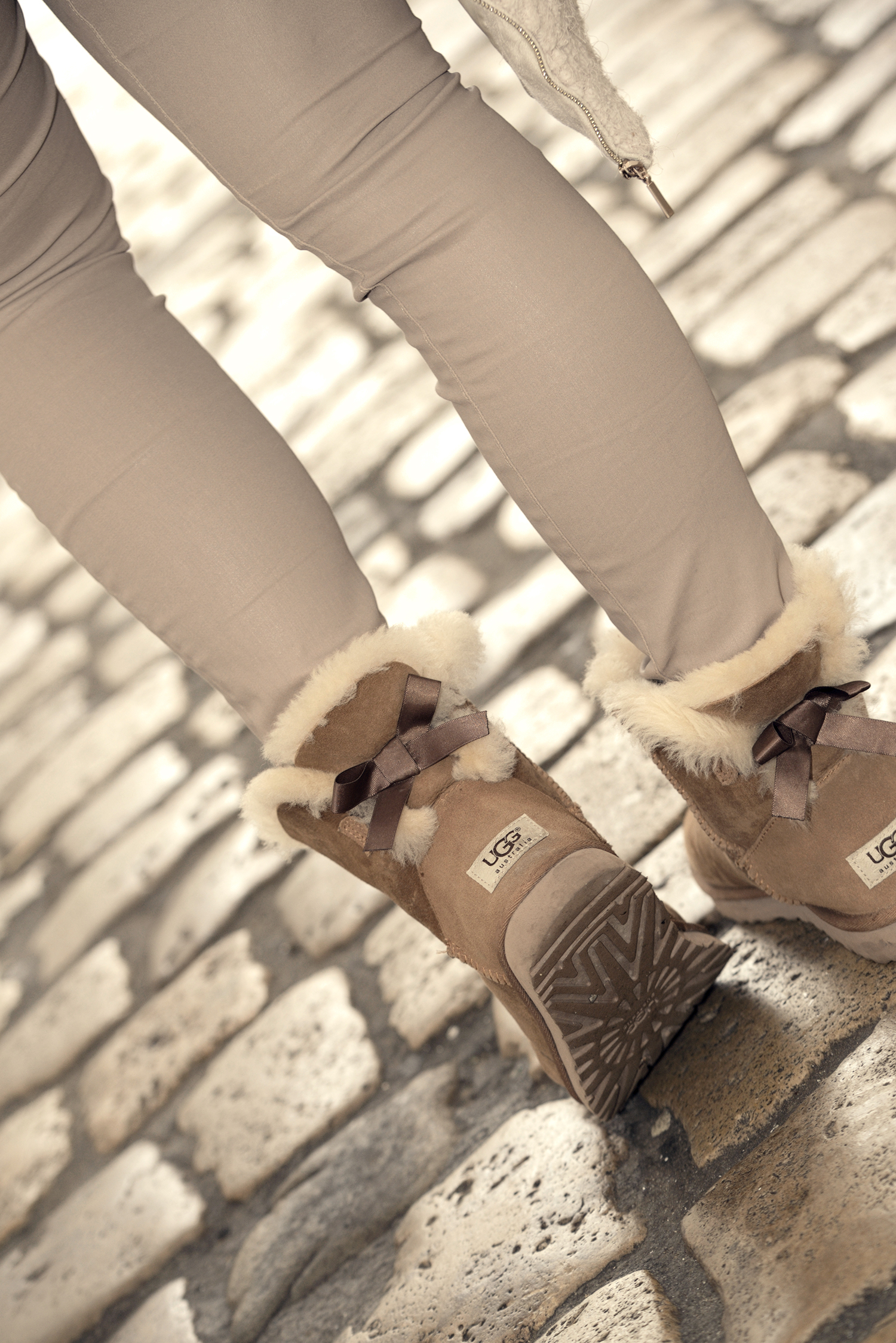 Ugg Boots and SheIn Blouse