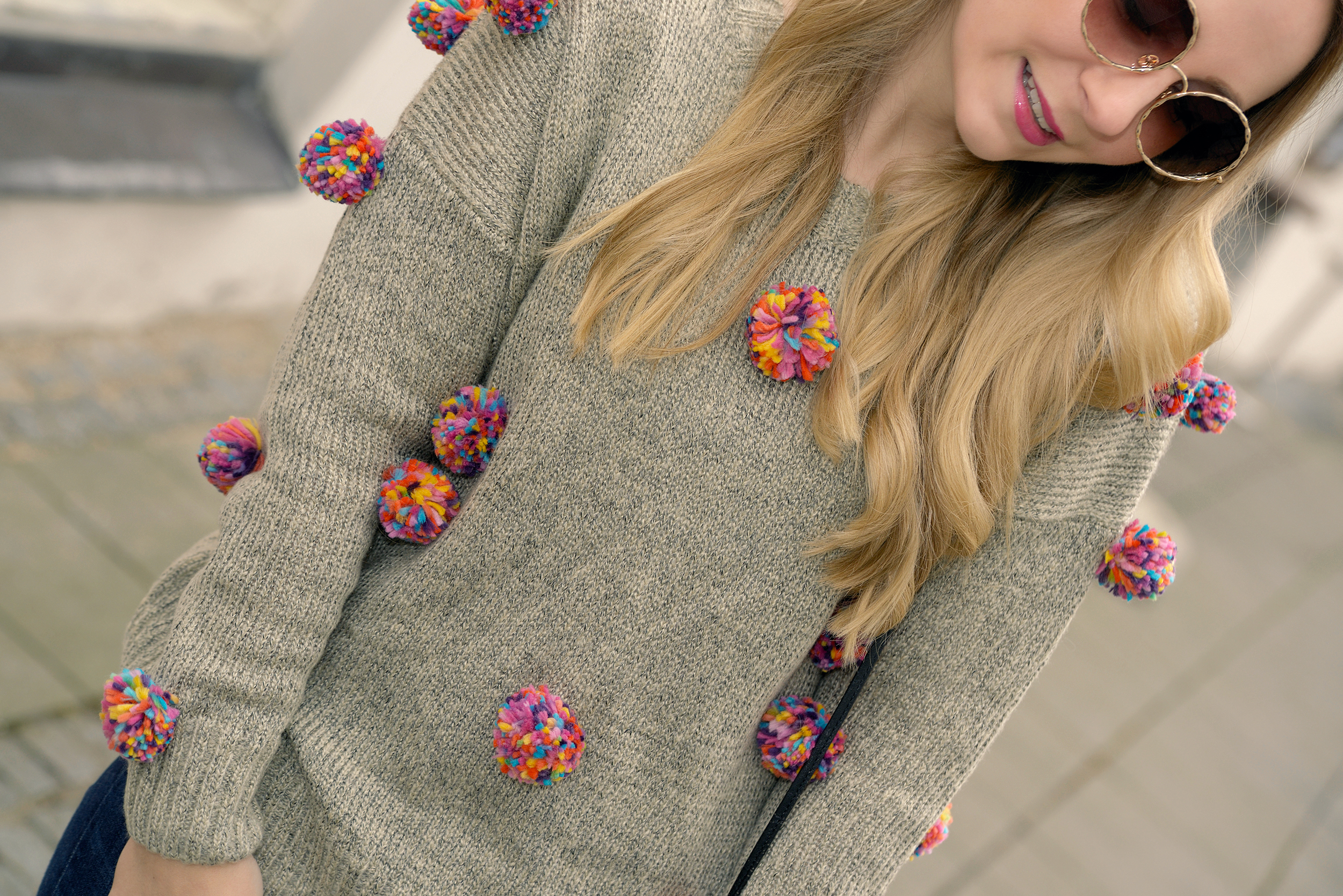 Zaful Pompom Sweater