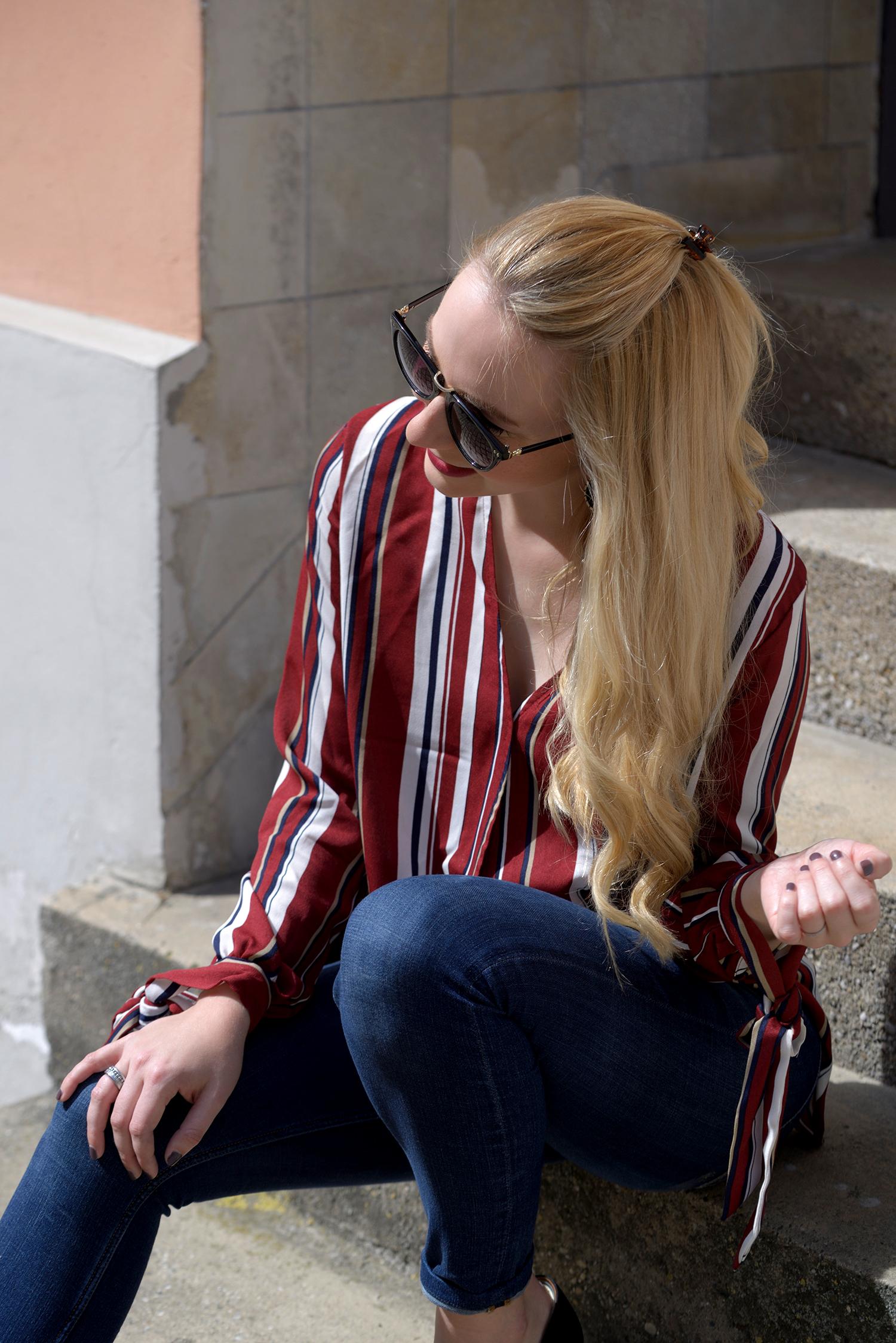 SheIn Striped Blouse