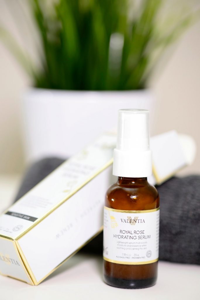 New Addition to my nightly Skincare Routine: The Valentia Royal Rose Hydrating Serum