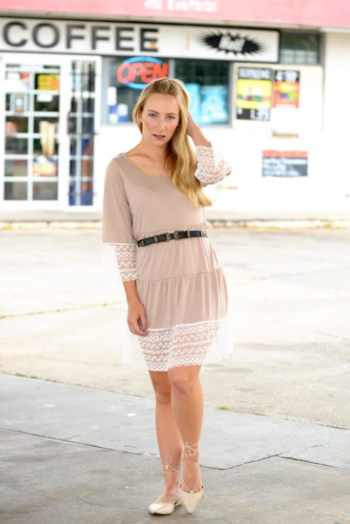 Summer Dress with Asos Double Buckle Belt and Aldo Ballerinas