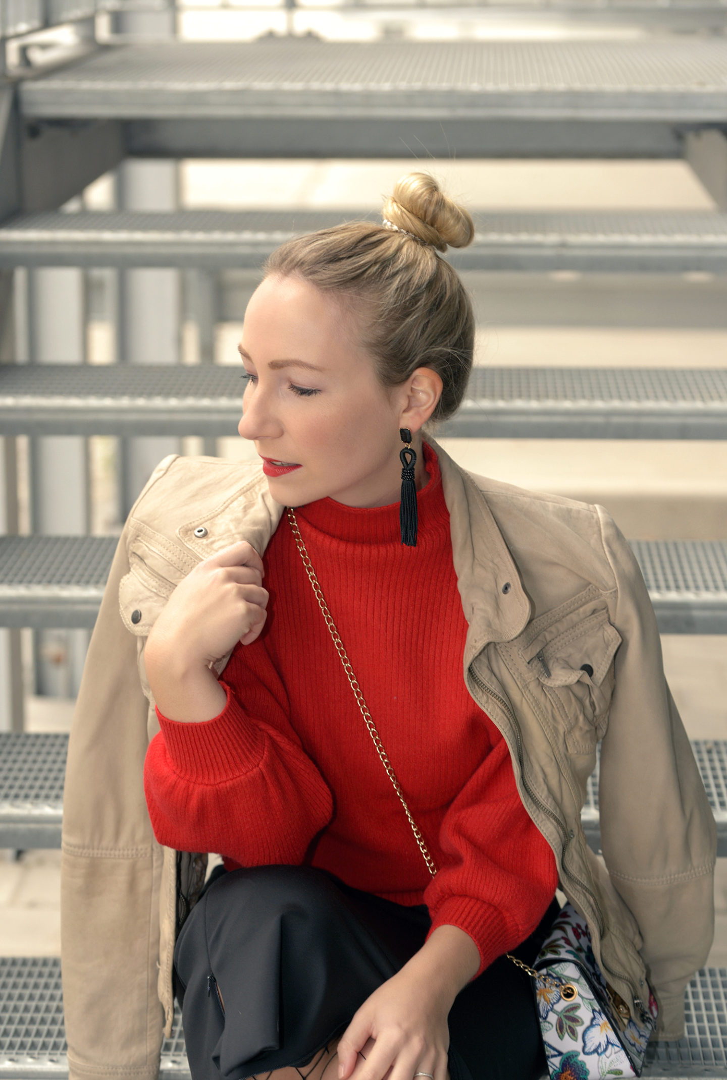 Popjulia Sweater in Trend Color Red & Fashion Blogger Best Of