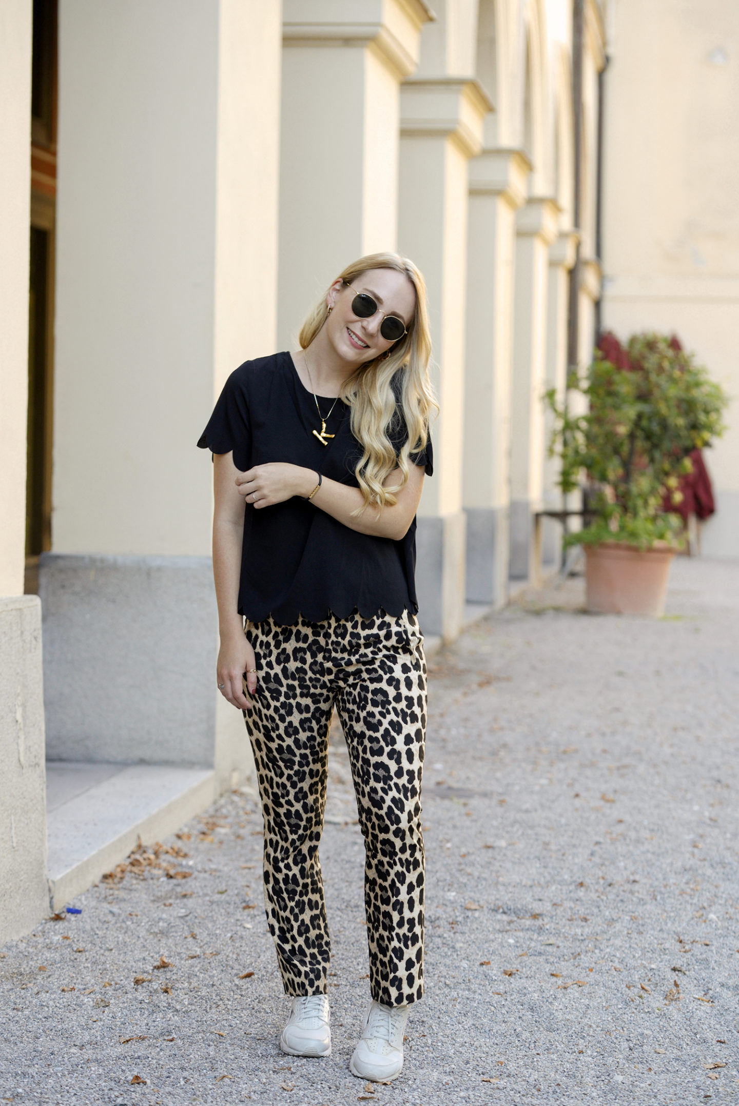 One pair of leopard print pants – two different styles